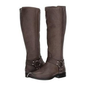 Frye Phillip Harness Tall Smoke